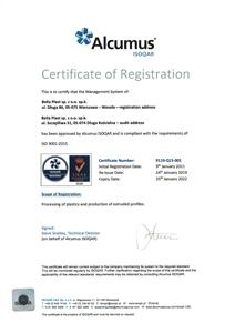 ISO certyficate